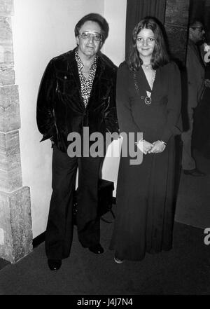 Peter Sellers British actor with daughter  Sarah 1976 - Stock Photo