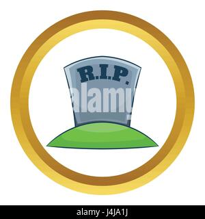 RIP on grave vector icon - Stock Photo