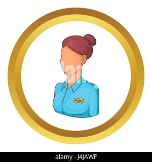 Museum guide vector icon - Stock Photo