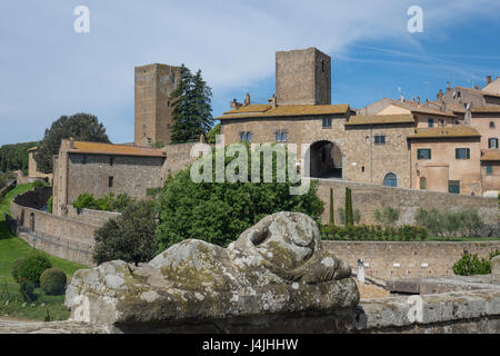 Italy, Lazio, Tuscania, city walls - Stock Photo