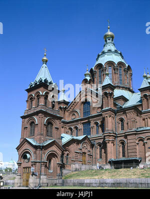 Finland, Helsinki, Uspenskij-cathedral, detail Scandinavia, capital, part of town of Katajanokka, Skatudden, city - Stock Photo