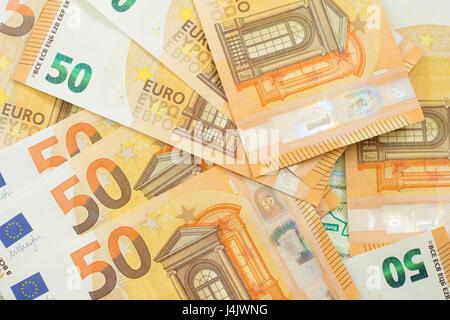 many euro banknotes - Stock Photo
