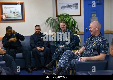 170510-N-GL340-122 RIJEKA, Croatia (May 10, 2017) Vice Adm. Christopher Grady, commander, U.S. 6th Fleet, meets - Stock Photo