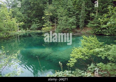Croatia, Dalmatia, Plitwitzer lakes national park, lake Europe, Southeast Europe, Balkan Peninsula, the Balkans - Stock Photo