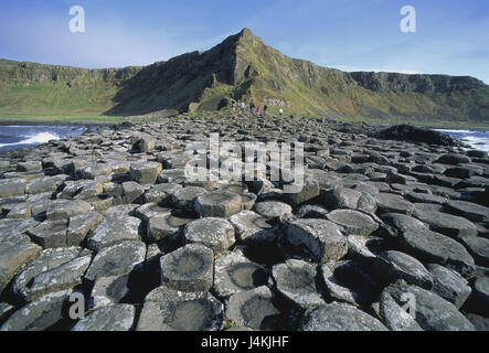 Northern Ireland, county Antrim, bile coast, Giant's Causeway, tourist Ireland, Northern Ireland, coast, basalt, - Stock Photo