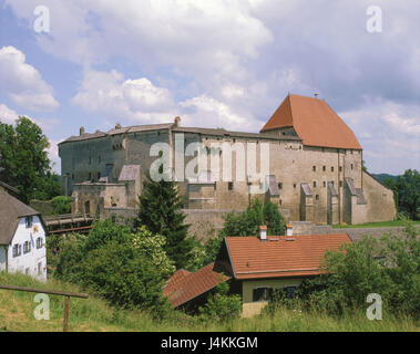 Germany, Bavaria, Tittmoning, castle Europe, Upper Bavaria, town, place of interest, architecture, building, 13. - Stock Photo