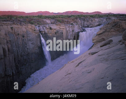 South Africa, Augrabiesfälle, Oranje River, evening light Africa, Augrabies cases, waterfalls, the Cape Province, - Stock Photo