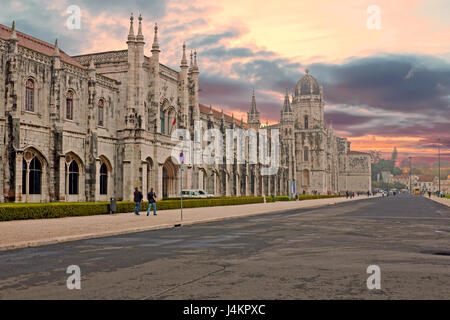 The Monastery of St. Jeronimos, is one of the most famous monuments in Portugal, built in the manueline style. It - Stock Photo