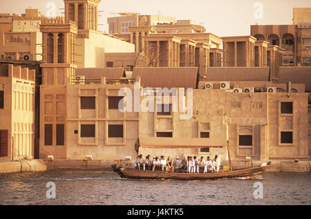 United Arab Emirates, Dubai, borer Dubai, town view, taxi boot front East, the Near East, the Middle East, Arabian - Stock Photo
