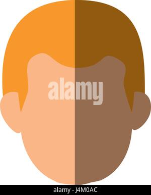 Man faceless head - Stock Photo
