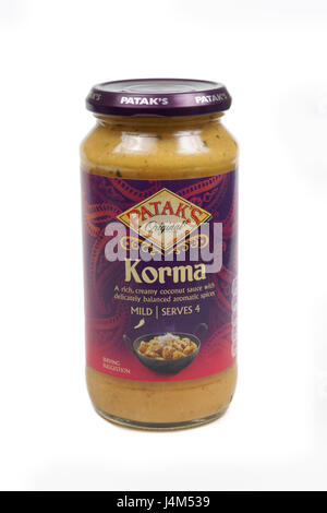 Patak's Korma cooking sauce part of the Patak's range of sauces owned by Associated British Foods - Stock Photo
