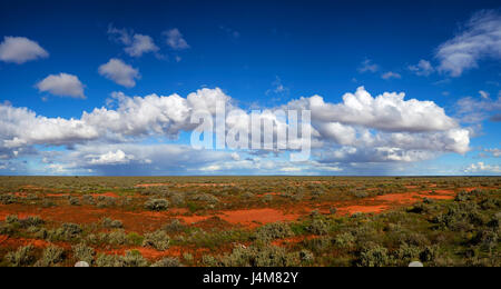 Wide open spaces of countryside near Broken Hill. Far western New South Wales, Australia. - Stock Photo