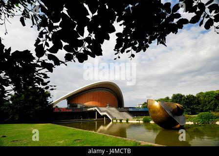 arts, berlin, berling sights, berlin-tiergarten, city tourism, concert hall, congress hall, cultural, tiergarten, - Stock Photo