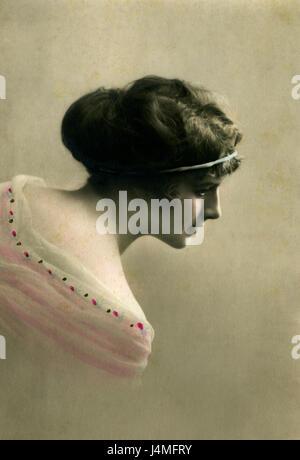 Vintage portrait - Stock Photo