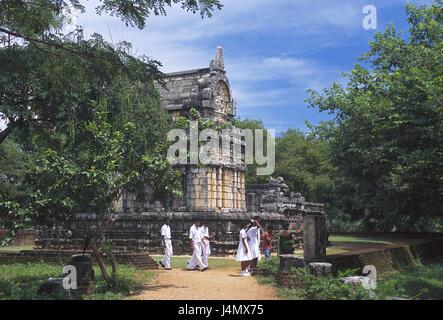 Sri Lanka, Nalanda Gedige, statue house, visitor South Asia, island, island state, close Dambulla, destination, - Stock Photo