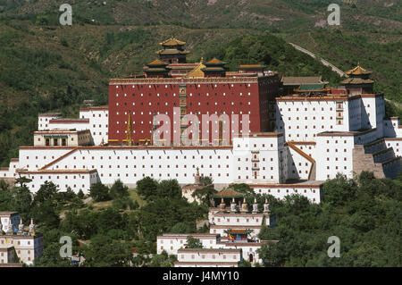 China, Hebei Province, Chengde, temple attachment Asia, Eastern Asia, Nordostchina, place of interest, culture, - Stock Photo
