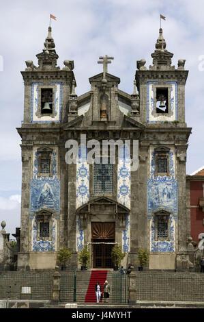 Igreja de Santo Ildefonso, church, postage, Portugal, - Stock Photo