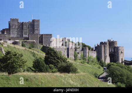 Great Britain, England, Kent, Dover Castle, south narrow country, lock, lock building, castle, castle grounds, structure, - Stock Photo