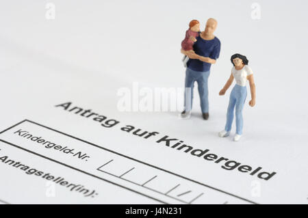 Form Application Child Benefit Characters Family Model Stock