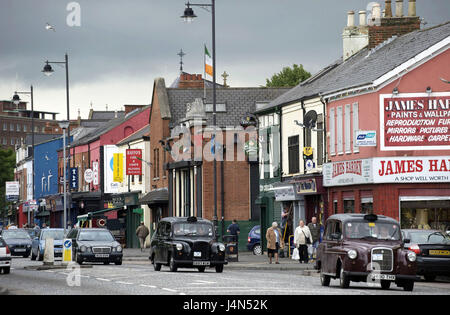 Northern Ireland, Ulster, county Antrim, Belfast, case Road, street scene, - Stock Photo