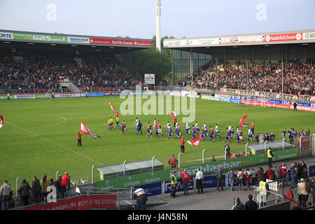 Germany, food, Georg Melches stadium, pitch, player, invasion, - Stock Photo