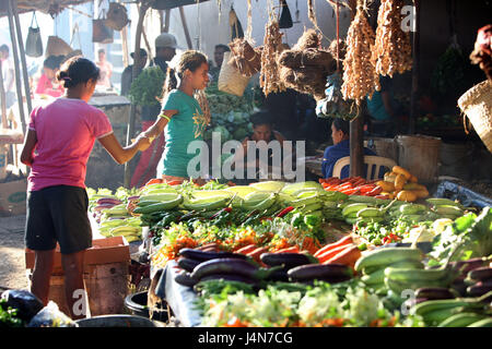 Democratic republic of Timor-Leste, Dili, weekly market, person, - Stock Photo