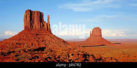 The USA, Arizona, monument Valley Navajo Tribal park, Kayenta, sandstone rock, North America, scenery, rock, bile - Stock Photo