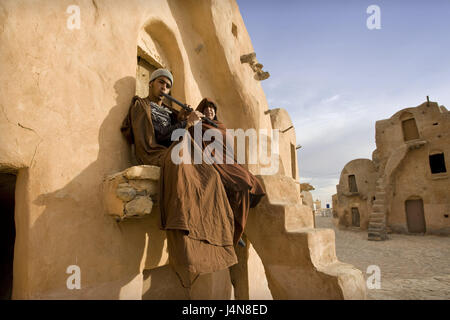 Tunisia, Tataouine, Ksar sultan Ouled Soltane, Berber, North Africa, Berber's settlement, town, settlement, structure, - Stock Photo