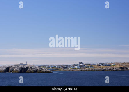 Canada, Newfoundland, port aux Basques, town view, coast, sea, - Stock Photo