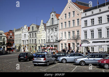 Germany, Mecklenburg-West Pomerania, Wismar, in the market, - Stock Photo