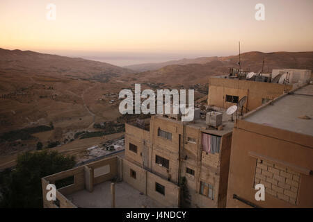 The Middle East, Jordan, Karak, residential house, scenery, hill, - Stock Photo