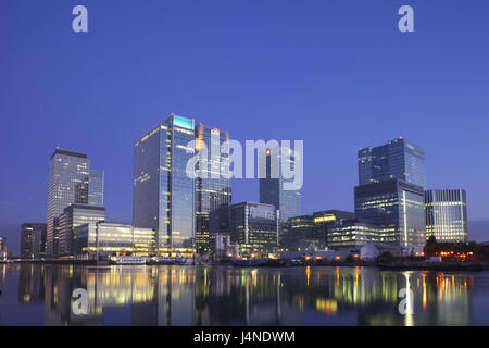 Great Britain, England, London, dock country, Canary Wharf, evening, - Stock Photo