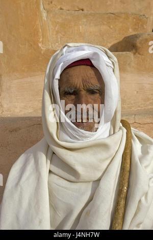 Tunisia, Tataouine, Ksar sultan Ouled Soltane, Berber, portrait, North Africa, Berber's settlement, town, settlement, - Stock Photo