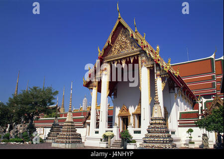 Thailand, Bangkok, Wat Pho, pagodas, - Stock Photo