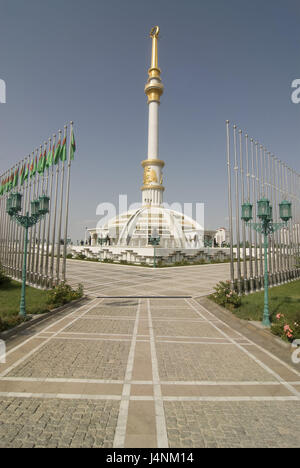 Independence monument in Turkmenistan, Ashgabad, - Stock Photo
