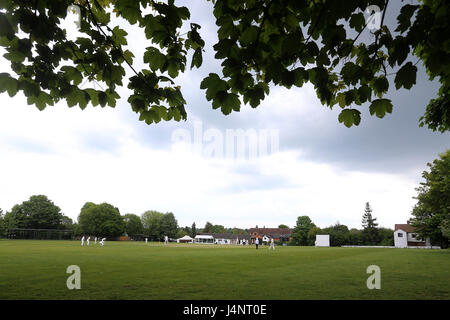 General view of the ground during Shenfield CC vs Hornchurch CC, Shepherd Neame Essex League Cricket at Chelmsford - Stock Photo