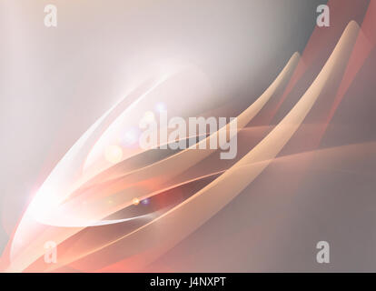 Minimalistic soft background with waves and soft light - Stock Photo