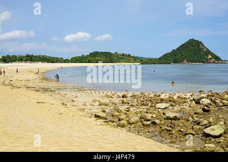 Kuta Mandalika Beach, Lombok, Indonesia - Stock Photo