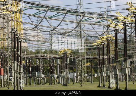Nuclear power plant, transformer station, detail, - Stock Photo