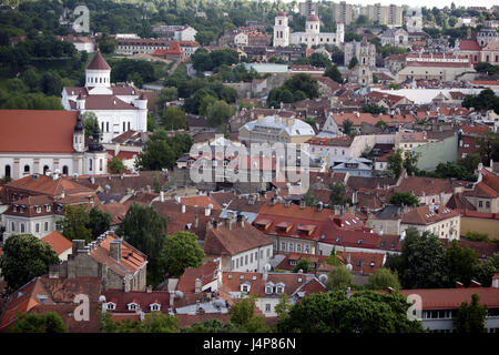 Lithuania, Vilnius, Old Town, town overview, - Stock Photo