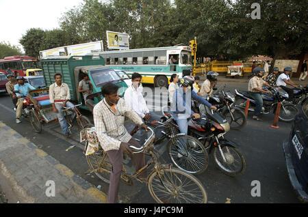 India, Delhi, Old Delhi, Netaji Subhash Marg, avenue to the red fort would drive down, - Stock Photo