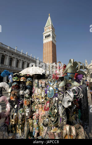 Italy, Veneto, Venice, Piazza San Marco, masks, - Stock Photo