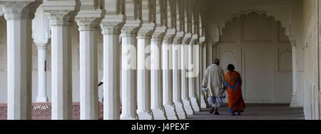 India, Uttar Pradesh, Agra, Red fort, Khas Mahal, Privately palace of Shah Jahan, - Stock Photo