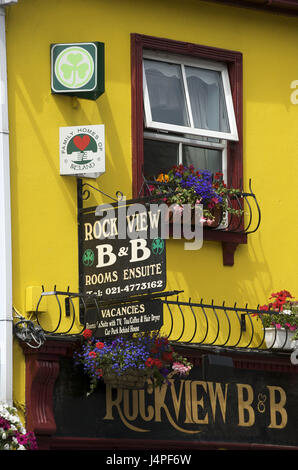 Ireland, Munster, Cork county, Kinsale, Bed and Breakfast, - Stock Photo