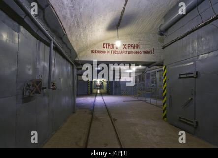 Submarine bunker, Balaklawa, the Crimea, nuclear-bombproof, submarine base, secretly, the military, - Stock Photo