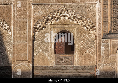 FEZ, MOROCCO - FEBRUARY 18, 2017:  Fez Madrasa / picture showing the stunning Madras in Fez (Bou Inania Madrasa), - Stock Photo