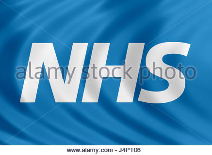 NHS logo icon flag - Stock Photo