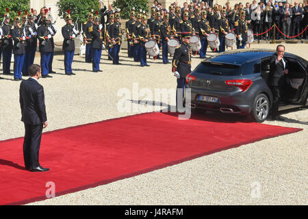 Paris, France. 14th May, 2017. Julien Mattia / Le Pictorium -  Transition ceremony at the Elysee Palace  -  14/05/2017 - Stock Photo