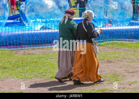 Zorb Balls On Water In A Funfair Stock Photo 48510666 Alamy