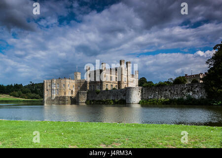 Leeds castle, situated in Kent, England - Stock Photo